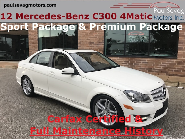 2012 Mercedes-Benz C300 4MATIC Sport Sedan Premium Pkg/Full Service History Sedan