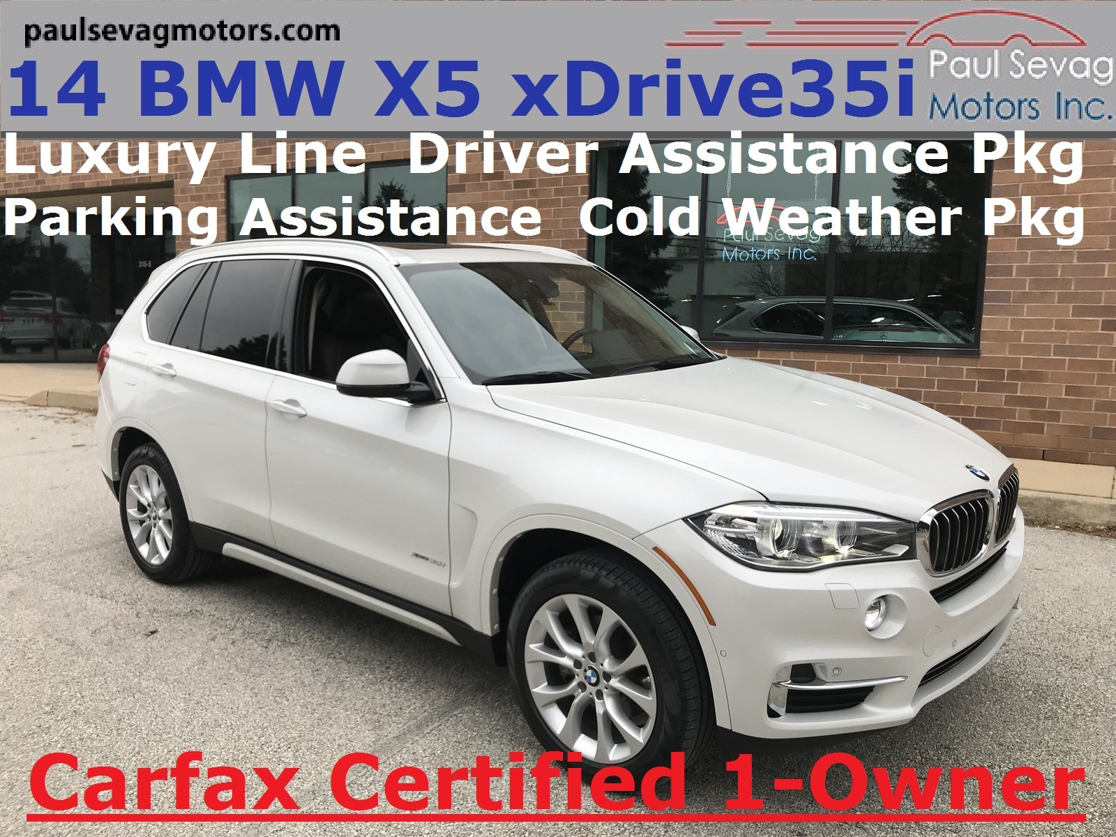 2014 BMW X5 xDrive35i Luxury Line Driver Assistance/Cold Weather Pkgs/Parking Assist SAV