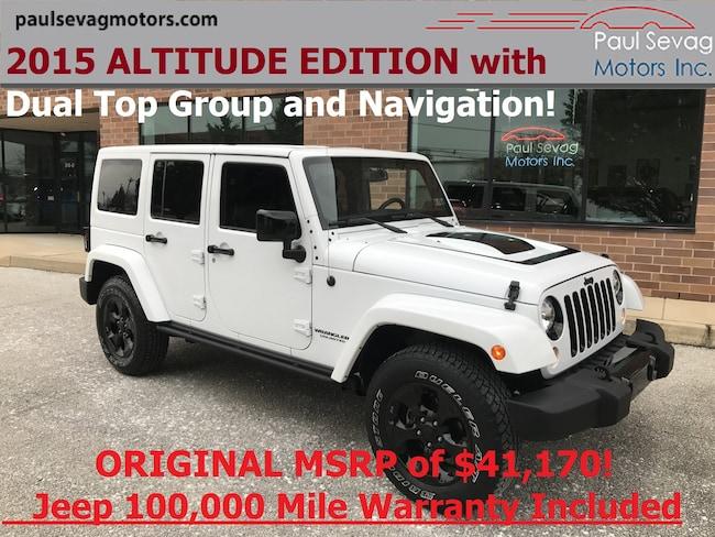 2015 Jeep Wrangler Unlimited Sahara 4x4 ALTITUDE EDITION/Dual Tops/Navigation SUV