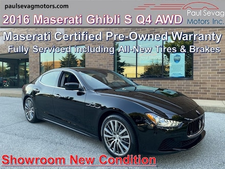 2016 Maserati Ghibli S Q4 AWD with Maserati CPO Warranty/Fully Serviced