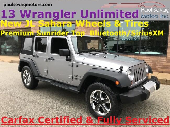 2013 Jeep Wrangler Unlimited Sport S 4x4 Premium Top/Bluetooth/SiriusXM/JL Sahara Wheels SUV
