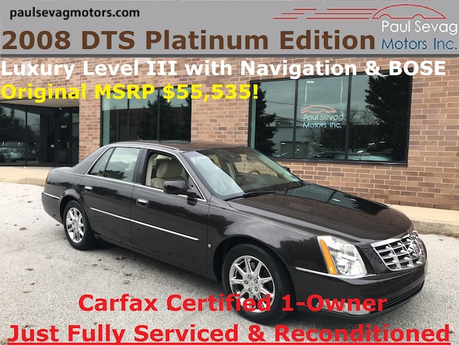 2008 Cadillac DTS Luxury III Platinum Edition/Only 1-Owner & Fully Serviced Sedan