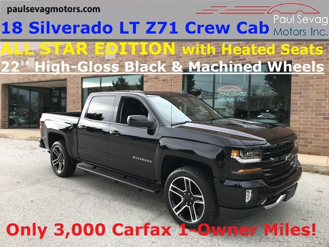 2018 Chevrolet Silverado 1500 LT Z71 Crew Cab All Star Edition/22'' Black Wheels Crew Cab