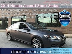 2014 Honda Accord Sport Sedan Bluetooth/Pandora Radio/Rear Camera/18'' Wheels/Po