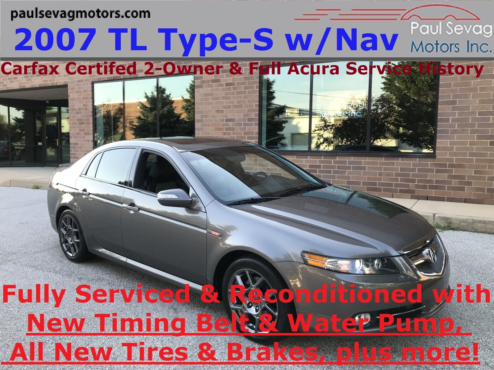 2007 Acura TL Type S with Navigation Fully Serviced including Timing Belt Sedan