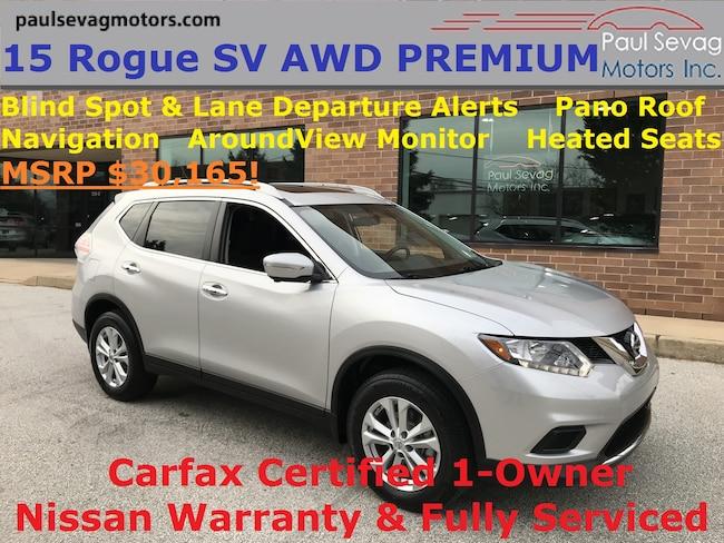 2015 Nissan Rogue SV AWD Premium Pano Roof/Blind Spot/Lane Departure/Navigation/Aro SUV