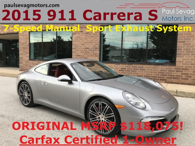 2015 Porsche 911 Carrera S Coupe 7-Speed Manual/Sport Exhaust - MSRP $118,075 Coupe