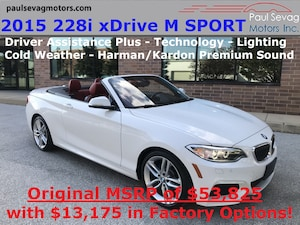 2015 BMW 228i xDrive M Sport Convertible Lighting/Technology/Driver Assistance Plus/MSRP $5