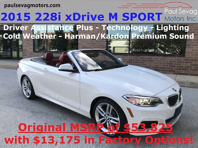 2015 BMW 228i xDrive M Sport Convertible Lighting/Technology/Driver Assistance Plus/MSRP $5 Convertible