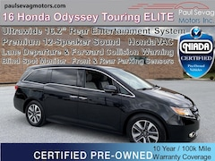 2016 Honda Odyssey Touring Elite with HondaVAC/Blind Spot & Lane Departure Warnings/UltraWide Rear DVD