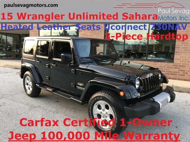 2015 Jeep Wrangler Unlimited Sahara 4x4 Heated Leather/Hardtop/730N Navigation SUV