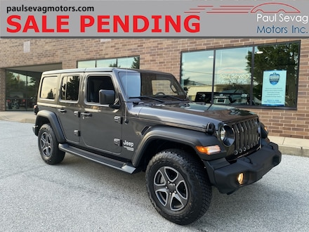 2019 Jeep Wrangler Unlimited Sport 24S 4x4 - Only 2,000 Miles - Active Safety Group/A