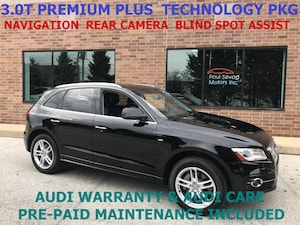 2015 Audi Q5 3.0T Premium Plus Quattro Technology Pkg/Side Assist/Audi Warranty & Audi Ca