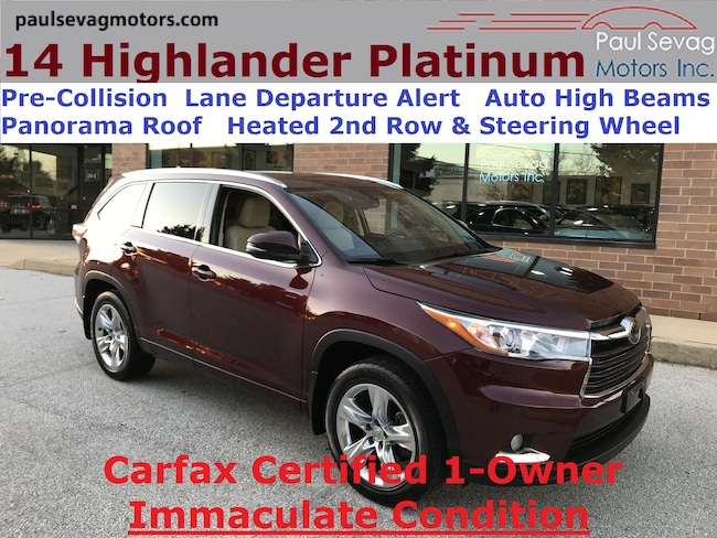 2014 Toyota Highlander Limited Platinum AWD Pano Roof/Lane Departure/Pre-Collision/Heated Stee SUV