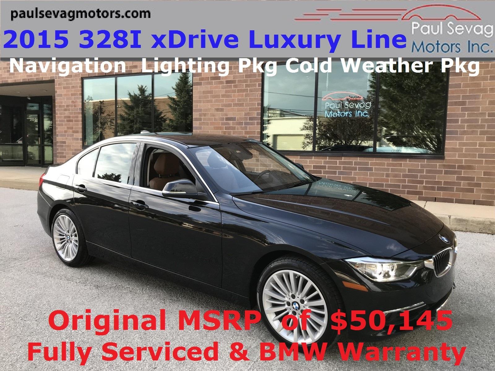 2015 BMW 328i xDrive Luxury Line Sedan Navigation/Lighting Pkg/MSRP $50,145 Sedan