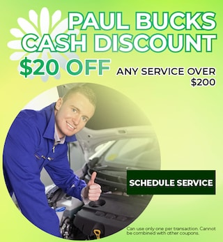 Paul Bucks Cash Discount
