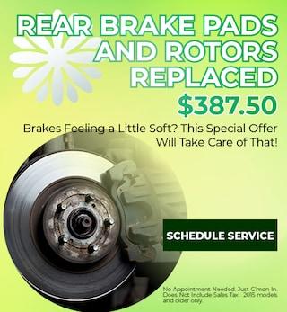 Rear Brake Pads & Rotors Replaced