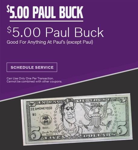 Paul Bucks 9/16/2019