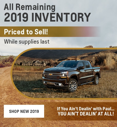 All Remaining 2019 Inventory Priced to Sell!