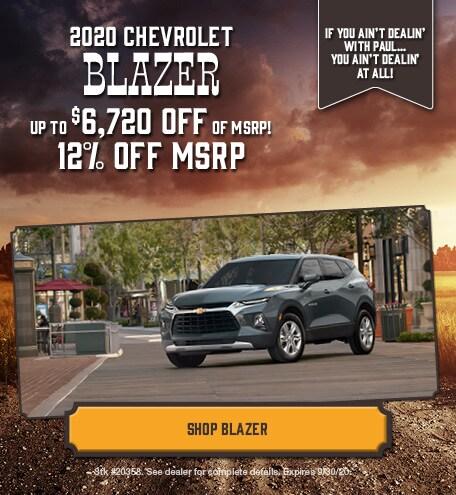 New 2020 Chevrolet Blazer | Discount