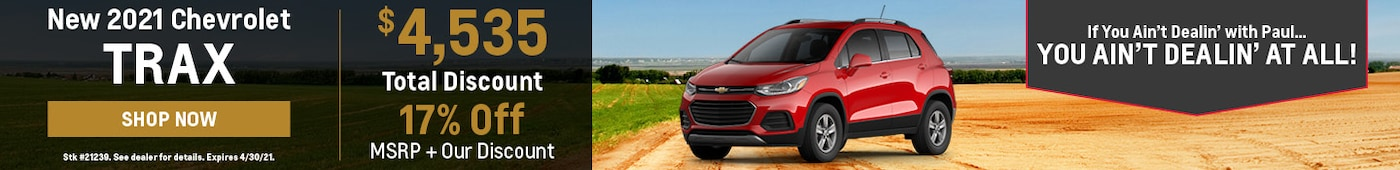 New 2021 Chevrolet Trax | Discount