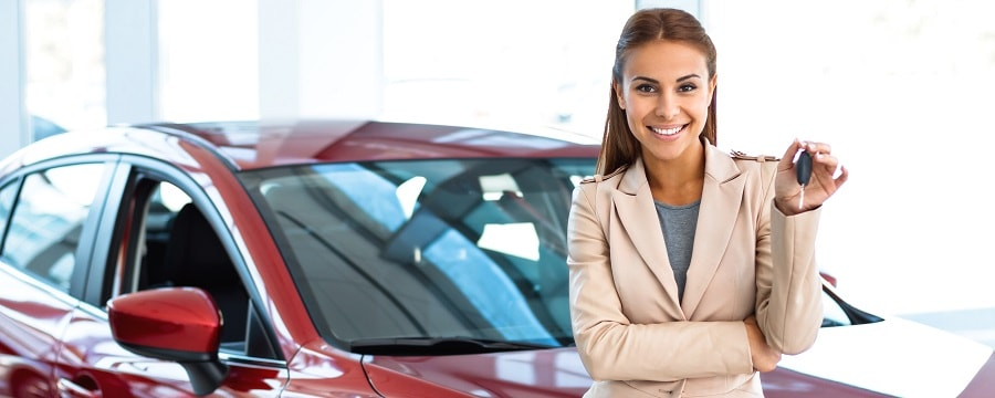 Woman Selling Used Cars