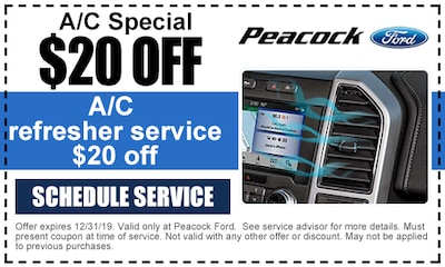 A/C refresher service - $20 off