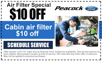 Cabin Air Filter - $10 off