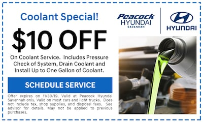 $10 OFF ON COOLANT SERVICE
