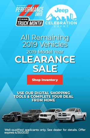 April 2019 Model Year Clearance Sale