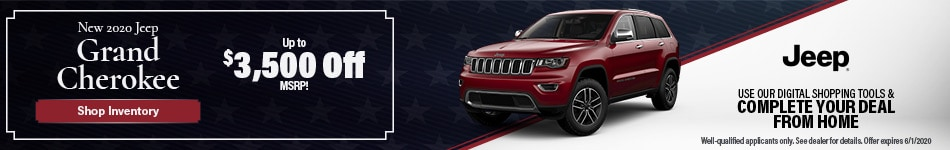 May New 2020 Jeep Grand Cherokee Offer