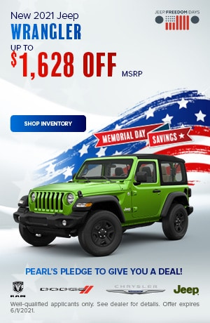 May New 2021 Jeep Wrangler Offer