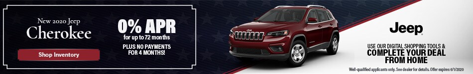 May New 2020 Jeep Cherokee Offer