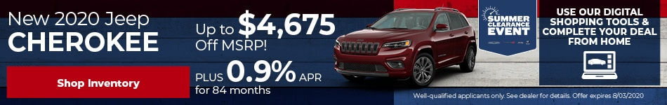 July New 2020 Jeep Cherokee Offer