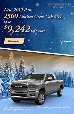 January New 2019 Ram 2500 Limited Crew Cab 4X4 Offer