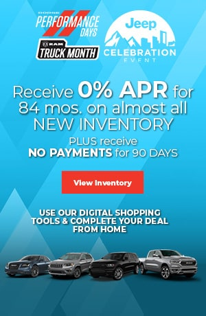April's Receive 0% APR for 84 mos. on almost all NEW INVENTORY Offer