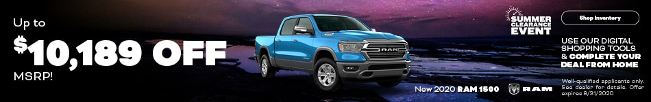 August New 2020 Ram 1500 Cash Offer
