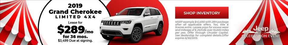 June 2019 Grand Cherokee Lease Offer