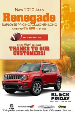 November New 2020 Jeep Renegade Offer