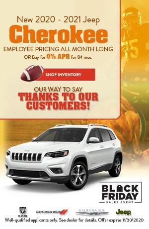 November New 2020 - 2021 Jeep Cherokee Offer
