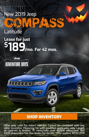 October New 2019 Jeep Compass Latitude Offer