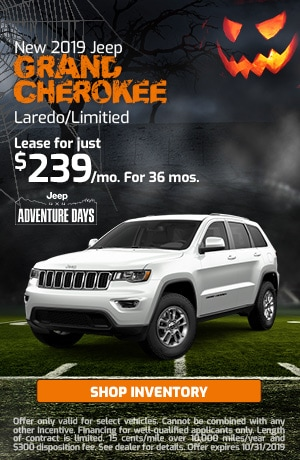 October New 2019 Jeep Grand Cherokee Laredo/Limitied Offer