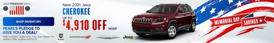May New 2021 Jeep Cherokee Offer