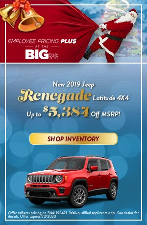 December New 2019 Jeep Renegade Latitude 4X4 Cash Offer