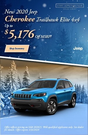 January New 2020 Jeep Cherokee Trailhawk Elite 4x4 Offer