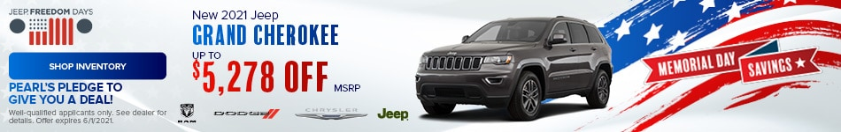 May New 2021 Jeep Grand Cherokee Offer