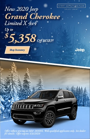 January New 2020 Jeep Grand Cherokee Limited X 4x4 Offer