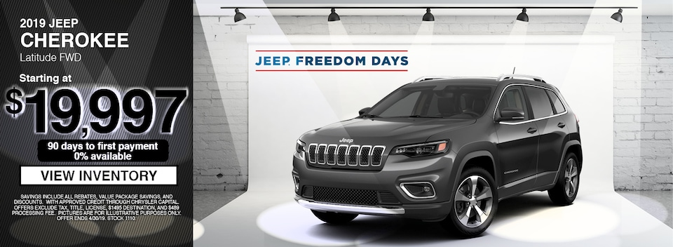 2019 Jeep Cherokee Latitude FWD Special