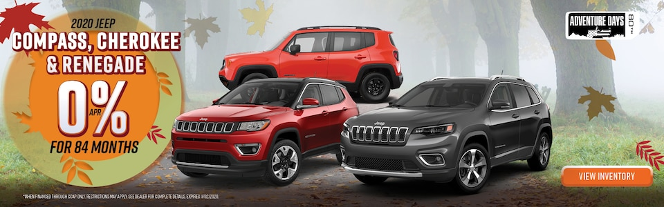 2020 Jeep Compass, Cherokee, & Renegade
