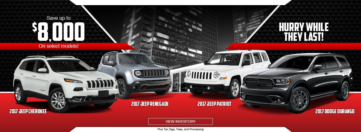 Charming 2017 Jeep Cherokee, Renegade, Patriot And Dodge Durango Special